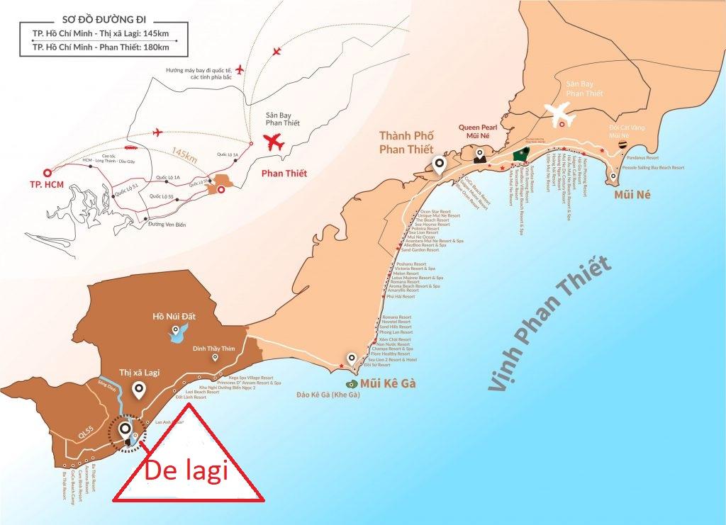 vị trí khu nghỉ dưỡng Delagi
